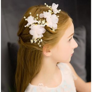 子供ヘアアクセサリー フラワーティアラ キッズ髪飾り 花冠 ...