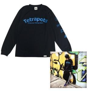 フィッシングウェア テトラポッツ DRY LONG TEE M ブラックの商品画像 ナビ
