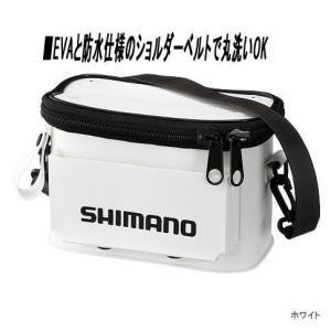 【送料無料】シマノ 船縁ポーチ BK-031M 白 angle-webshop