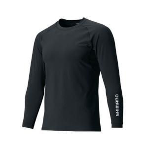 【メール便対応】シマノ SUN PROTECTION ロングスリーブシャツ IN-061Q ブラック...