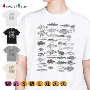 釣り Tシャツ 半袖 魚図鑑 1890年版 5.6oz 綿100% メンズ レディース 洗濯 大きい...