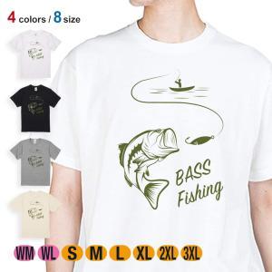 釣り Tシャツ 半袖 バス釣り 5.6oz 綿100% メンズ レディース 洗濯 大きいサイズ 白 ...