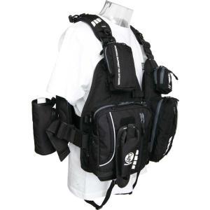 パズデザイン フローティングベスト PSL・コンプリートIV SLV-020/ブラック|anglers-sarai