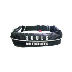 ソウルズ 自動膨張式ライフジャケット ウエストベルト式 souls ウエストベルトタイプ|anglersweb