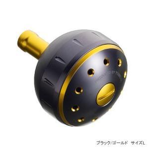 シマノ(Shimano)夢屋アルミラウンド型パワーハンドルノブ ブラック/ゴールド M ノブ TypeA用|anglersweb