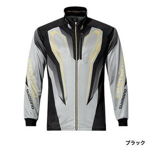 シマノ (Shimano) SH-011P ブラック Lサイズ WT-℃・フルジップリミテッドプロシャツ|anglersweb
