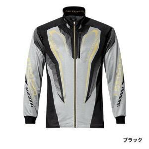 シマノ (Shimano) SH-011P ブラック XLサイズ WT-℃・フルジップリミテッドプロシャツ|anglersweb