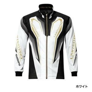 シマノ (Shimano) SH-011P  ホワイト XLサイズ WT-℃・フルジップリミテッドプロシャツ|anglersweb