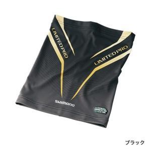 シマノ AC-074R SUN PROTECTION・COOLネッククール LIMITED PRO ブラック / 日焼け防止 吸水速乾 UVカット 冷感 リミテッドプロの商品画像|ナビ