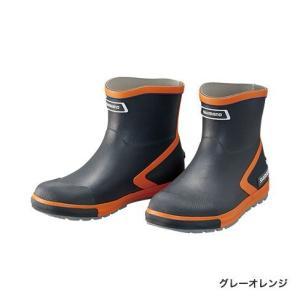 シマノ (Shimano) FB-064R グレーオレンジ 3Lサイズ(27.5〜28.5) ショート・ショートデッキブーツ|anglersweb