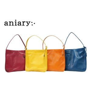 アニアリ・aniary バッグ ショルダーバッグ【送料無料】アンティークレザー フラットショルダーバッグ 01-03000|aniary-shop