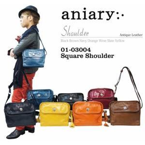アニアリ・aniary バッグ ショルダーバッグ【送料無料】アンティークレザー スクエアショルダー Square Shoulder 01-03004|aniary-shop