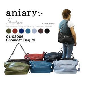 アニアリ・aniary バッグ ショルダーバッグ【送料無料】アンティークレザー ショルダーバッグM shoulder M 01-03006|aniary-shop