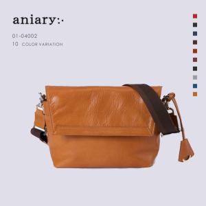 アニアリ・aniary メッセンジャー バッグ【送料無料】アンティークレザー Messenger Bag 01-04002|aniary-shop