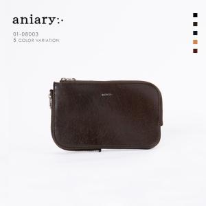 アニアリ・aniary クラッチバッグ【送料無料】アンティークレザー Antique Leather(牛革) ClutchBag マルチケース 01-08003|aniary-shop