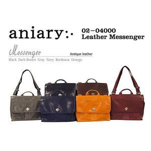 アニアリ・aniary メッセンジャーバッグ【送料無料】アイディアルレザー Leather Messenger 02-04000|aniary-shop