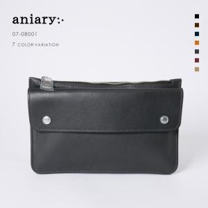 アニアリ・aniary クラッチ バッグ【送料無料】シュリンクレザー Clutch 07-08001|aniary-shop
