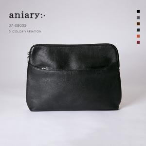 アニアリ・aniary クラッチバッグ【送料無料】シュリンクレザー Shrink Leather (牛革) ClutchBag 07-08002|aniary-shop