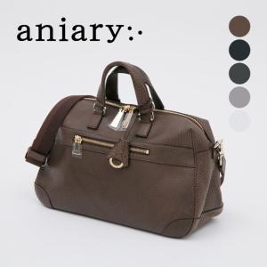 アニアリ・aniary ボストンバッグ【送料無料】Grind Leather 牛革 Boston Bag 15-06001|aniary-shop