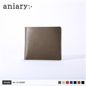 【aniary|アニアリ】Wave Leather ウェーブレザー 牛革 Goods ウォレット 二つ折り財布 16-20000 [送料無料]|aniary-shop