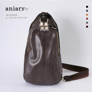 アニアリ・aniary ボディバッグ【送料無料】スケイルレザー  Body Bag 18-07000|aniary-shop