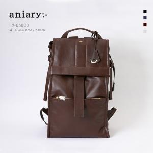 アニアリ・aniary バックパック【送料無料】Garment Leather牛革 Back pack 19-05000|aniary-shop