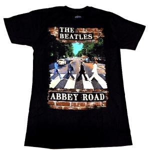 【2枚までメール便対応可】THE BEATLES ビートルズ ABBEY BRICK PHOTO オフィシャル バンドTシャツ【正規ライセンス品】|animal-rock
