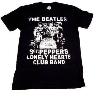 【2枚までメール便対応可】THE BEATLES ビートルズ SGT PEPPER CRACKLES オフィシャル バンドTシャツ【正規ライセンス品】|animal-rock