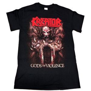 【2枚までメール便対応可】KREATOR クリーター GODS OF VIOLENCE  オフィシャル バンドTシャツ【正規ライセンス品】|animal-rock