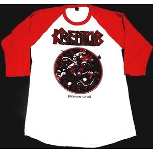 【1枚までメール便対応可】KREATOR クリーター PLEASURE TO KILL MENS RAGLAN  七分袖 ラグラン オフィシャル バンドTシャツ|animal-rock