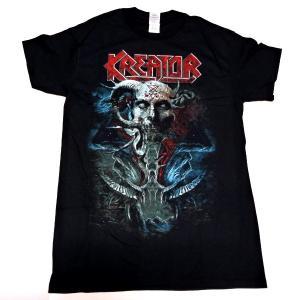 【2枚までメール便対応可】KREATOR クリーター SATAN IS REAL  オフィシャル バンドTシャツ【正規ライセンス品】|animal-rock