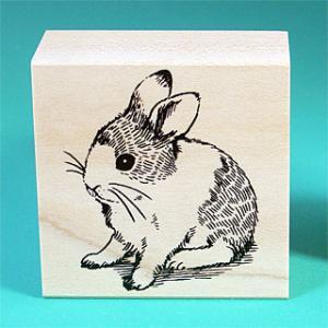 谷本ゴム印店【ペットスタンプ】Aタイプ・子ウサギ|animalstamp
