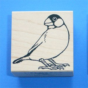川名企画【いきものスタンプ】Vタイプ・桜文鳥2(見返り文鳥)|animalstamp