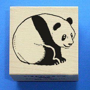 川名企画【いきものスタンプ】Vタイプ・見返り子パンダ|animalstamp