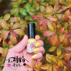 【メール便OK】京の胡粉ネイル10ml山吹(やまぶき) イエロー 黄色 速乾 無添加 爪に優しい ネイルアート キッズの商品画像 ナビ
