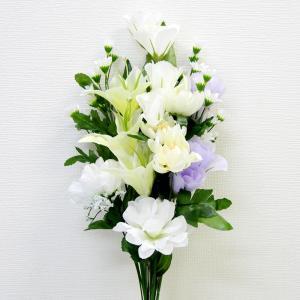 仏花 造花 仏壇用 お墓用 【 白アレンジ 大 】 1束 ※8月22日以降の発送になります。