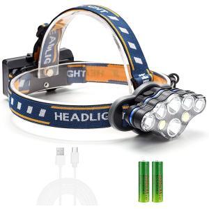 【送料無料】 ヘッドライト LED 充電式 LEDヘッドランプ 1240ルーメン 防水 8点灯モード 釣り アウトドア 登山 防災 ライト 作業灯 バッテリー付 災害 LEDHD--8 ankayuhin-toko