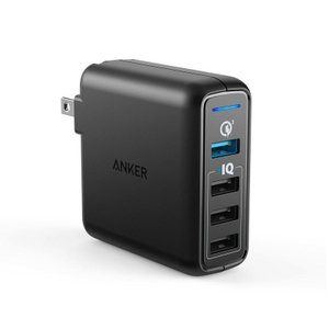 USB充電器 4ポートAnker PowerPort Speed 4 USB急速充電器 Anker正規販売店 QC3.0搭載 43.5W  iPhone iPad Android各種対応|ankerdirect