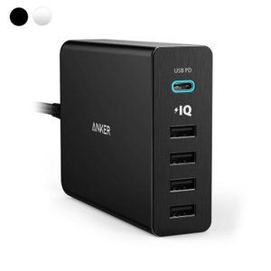 USB充電器 5ポート Anker PowerPort+ 5 USB-C Power Delivery 60W  急速充電 USB-C 新しいMacBook iPhone iPad Android 各種他対応|ankerdirect