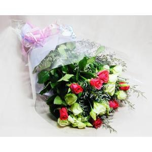 ピンクのバラと トルコ桔梗 の 花束 バラ ブーケ誕生日の花 翌日配達 ギフト プレゼント 歓送迎 送別 退職 贈り物 卒業 anne