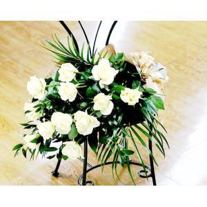 ホワイトブーケ バラ 花束 誕生日の花 ギフト プレゼント 歓送迎 送別 退職 贈り物 卒業 anne