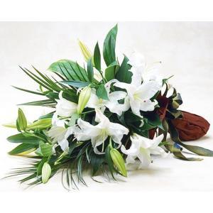 豪華なカサブランカの花束誕生日の花 翌日配達 ゆり ギフト プレゼント 歓送迎 送別 退職 贈り物 卒業|anne