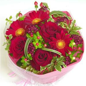 花/ギフト/届いたら置くだけ不思議なワンダーブーケ ワインレッドのお花スカーレット ギフト プレゼント 歓送迎 送別 退職 贈り物 卒業|anne