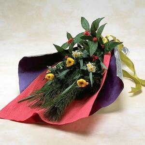 松 お正月 迎春2020 お正月の花束 菊と季節のお花の和風