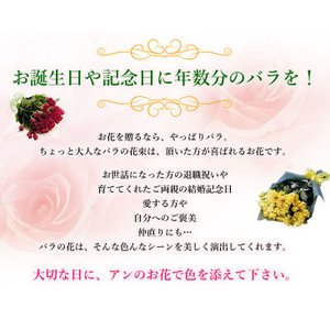 花束 バラ ギフト 薔薇 歳の数 が選べる 赤...の詳細画像2