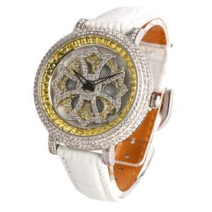 腕時計 時計 アンコキーヌ AnneCoquine レディース バイカラー ミニクロスシルバーベゼル...