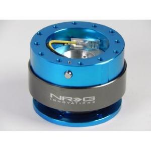 NRGステアリングホイールクイックリリースキット   世代2.0   新しいブルーwithチタンリングsrk-200nb|annex2019
