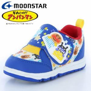 ムーンスター アンパンマン APM B28 ブルー 12115725 【アンパンマンベビーカジュアルシューズ 子供靴】|annexsports