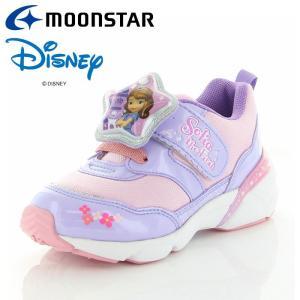 ムーンスター ディズニー DN C1249 パープル 12180849 【ディズニーLED搭載光る靴 子供靴】|annexsports