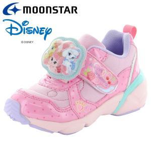 ムーンスター ディズニー DN C1267 ピンク 12181864 【ディズニー「ウィスカーヘイブン」LED搭載光る靴 子供靴】|annexsports